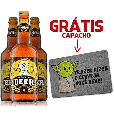 3 Cervejas DrPepper Dr Beer 500ml - GRÁTIS Capacho Eco MiniOda