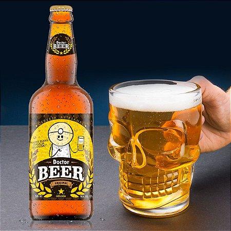 Kit Canecão Caveira + Cerveja Artesanal Dr Beer 500 ml