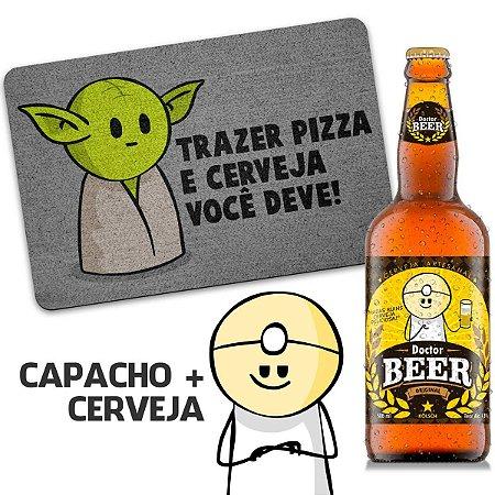 Capacho Ecológico DrPepper Mestre MiniOda + Cerveja Artesanal Dr beer