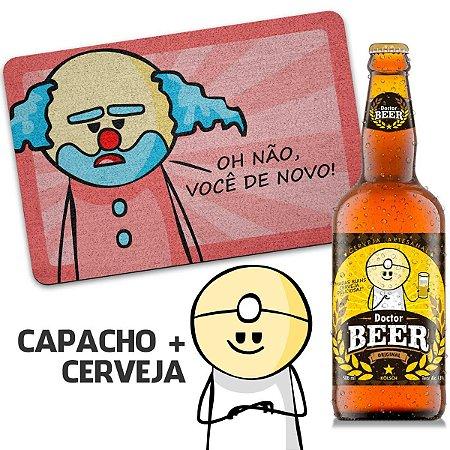 Capacho Ecológico DrPepper Paiaço Você De Novo + Cerveja Artesanal Dr beer