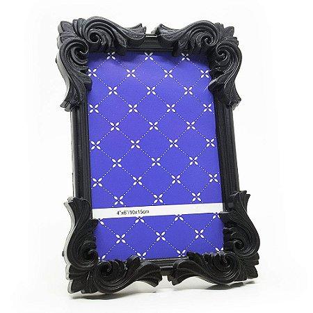 Porta Retrato moldura Flor - preto