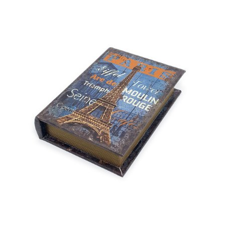 Caixinha Livro Decorativa Paris - 18 x 13 cm