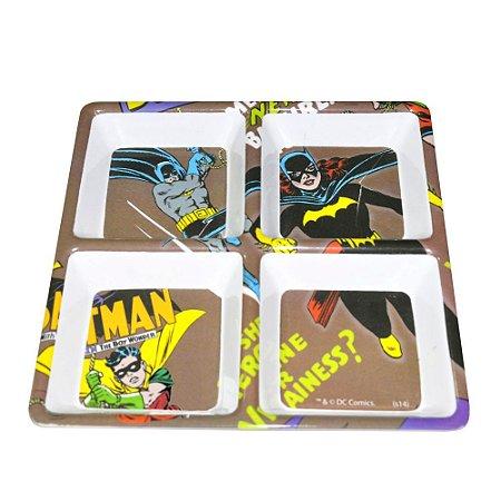 Petisqueira Quadrada DC Comics Batgirl e Batman