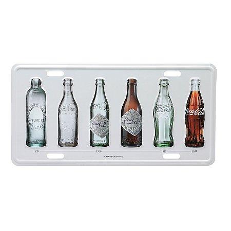 Placa de Metal Decorativa Coca-Cola Bottle Evolution