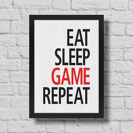 Quadro A3 Gamer Eat Sleep Game Repeat