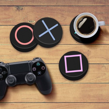 Porta Copos Gamer Botões PS4