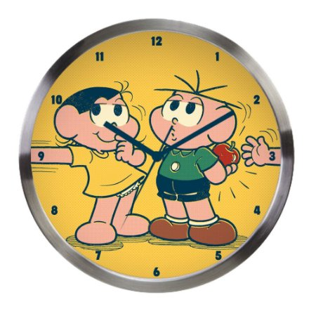 Relógio de parede Magali e Cebolinha