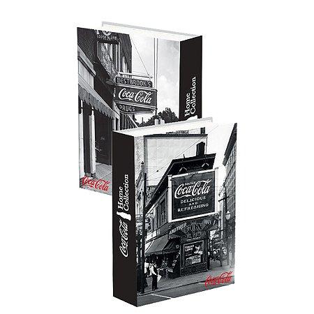 Caixa Livro madeira coca cola - Preto e Branco