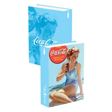 Caixa Livro madeira Coca Cola - Pin Up Lady in the beach