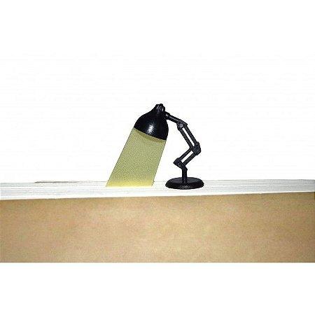 Marcador de Paginas Luminária - Preto