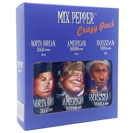 Kit Mix Pepper Crazy Pack com 3 Molhos de Pimenta 60ml