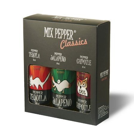 Kit Mix Pepper Classics com 3 Molhos de Pimenta 60ml