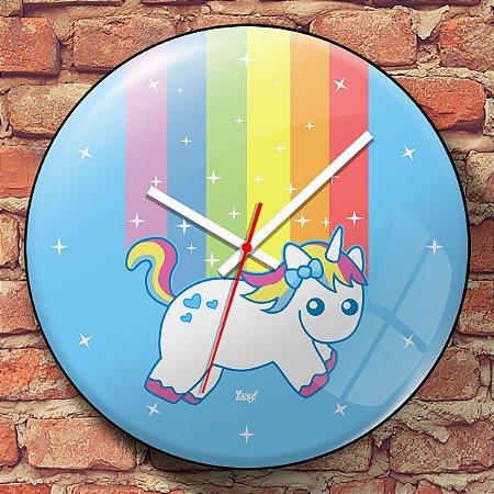 Relógio de Parede Unicórnio - 30 cm