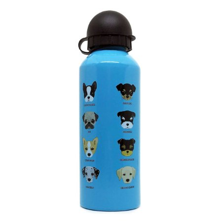 Garrafa Alumínio Dogs 500ml - azul