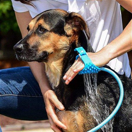 Mangueira com Luva Massageadora para Pets