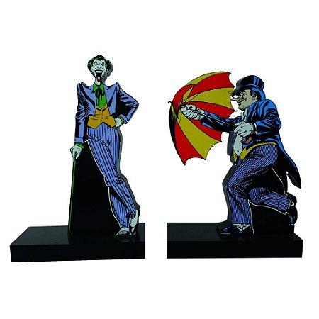 Aparador de Livros DC Comics Coringa e Pinguim