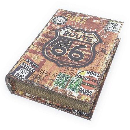 Caixa Livro Decorativa Historic Route 66 - 25 x 18 cm