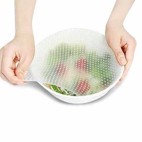 Stretch Fresh - Protetor de Silicone Reutilizável para Alimentos