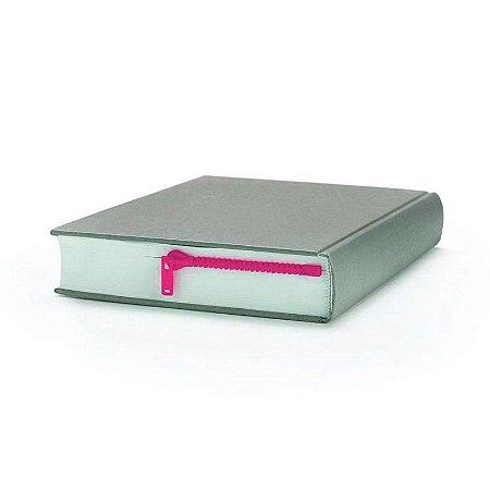 Marcador de Livro Zíper - rosa