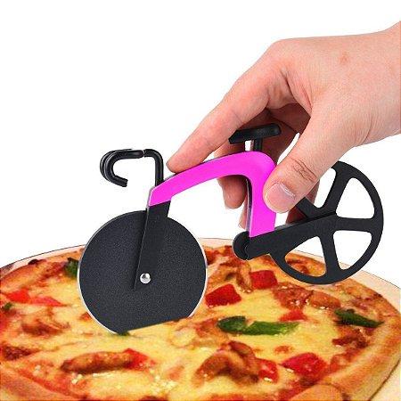 Fatiador de Pizza Bicicleta - rosa