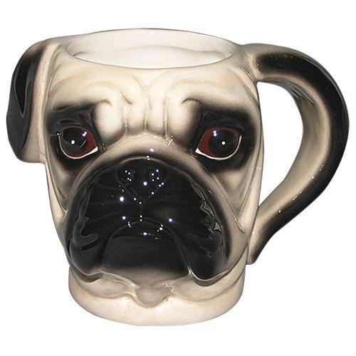 Caneca Fun Cabeça de Pug em porcelana 550ml