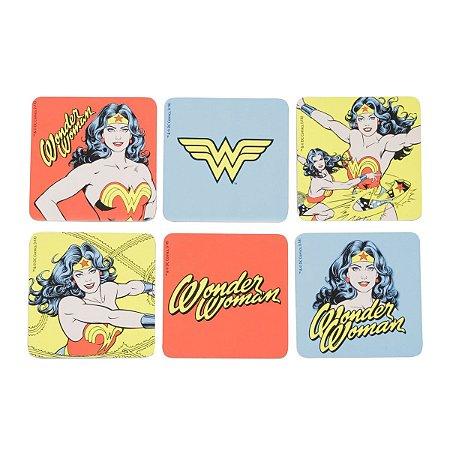 Set porta copos em cortiça DC Comics Wonder Woman - 6 peças