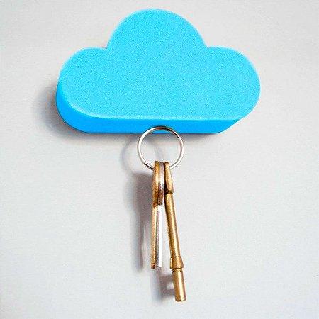 Porta Chaves magnético Nuvem - Azul