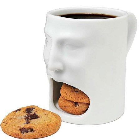Caneca Rosto com suporte para Cookies Face Mug