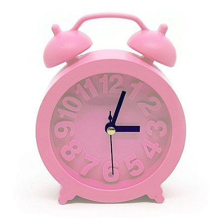 Relógio de mesa Retrô Moderno redondo - rosa