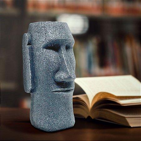 Cofre Estátua Moai Ilha de Páscoa