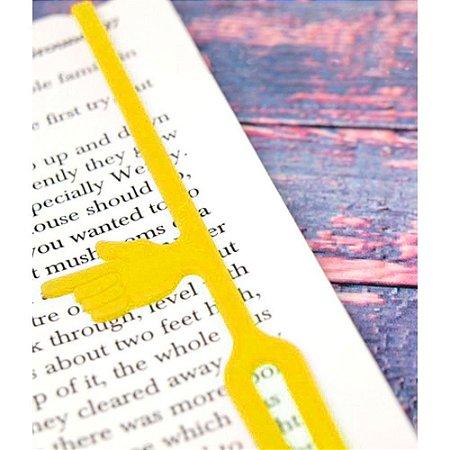 Marcador de Páginas com indicador de parágrafo - amarelo