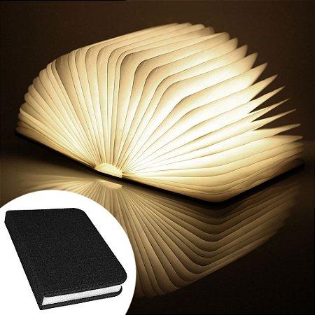 Luminária Livro sem fio BookLight Seven Colors - capa preta