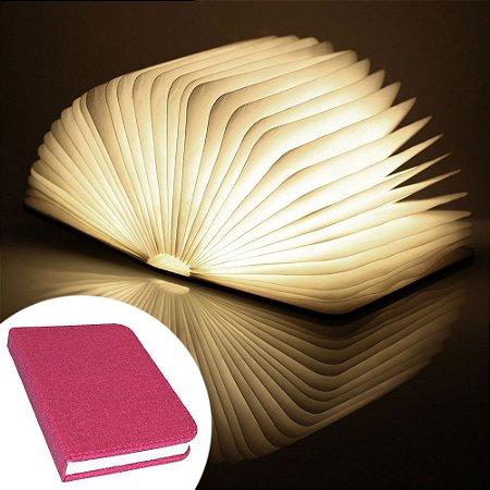 Luminária Livro sem fio BookLight Seven Colors - capa vermelha