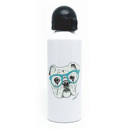 Garrafa de Alumínio I Love Dogs - branco