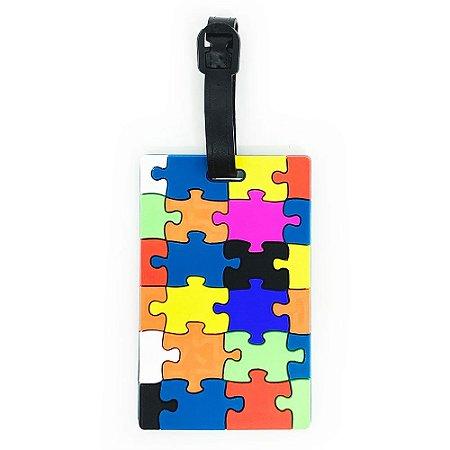 Tag de Mala para viagem Puzzle Quebra Cabeça
