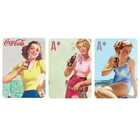 Jogo de Baralho Plástico Coca-Cola Pin Up Brown Lady