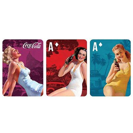 Jogo de Baralho Plástico Coca-Cola Pin Up Blonde Lady