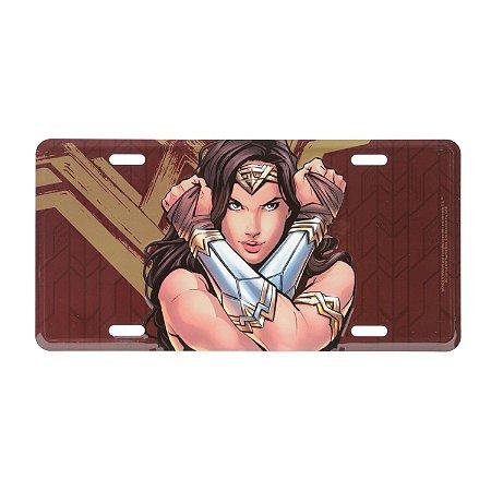 Placa de Metal Decorativa DC Comics Wonder Woman