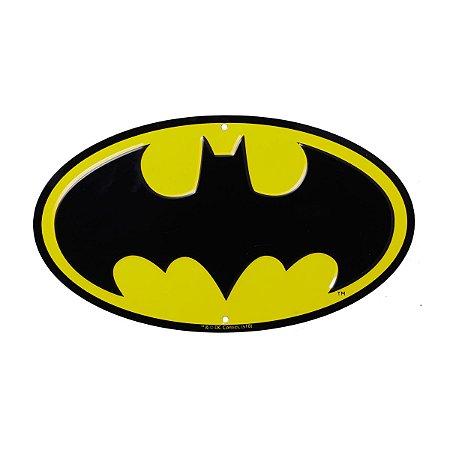 Placa de Metal Decorativa DC Comics Batman Logo