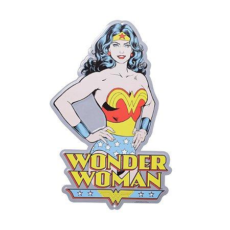 Placa de Metal Decorativa DC Comics Wonder Woman Body