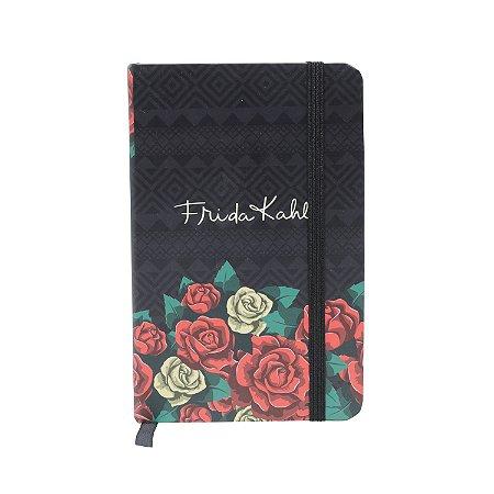 Caderneta de Anotações Frida Kahlo Colored Flowers