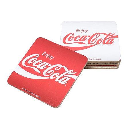 Set porta copos em cortiça Coca-Cola Logo