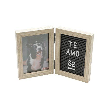Porta Retrato duplo com Message Board