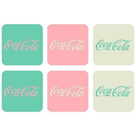 Set porta copos em MDF Coca-Cola Contemporary Green Logo