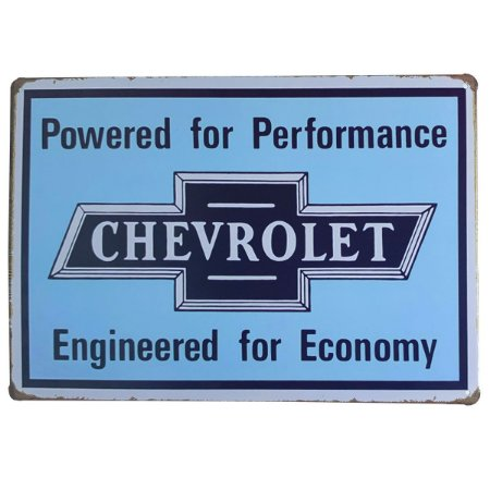 Placa de Metal Chevrolet - 30 x 20 cm