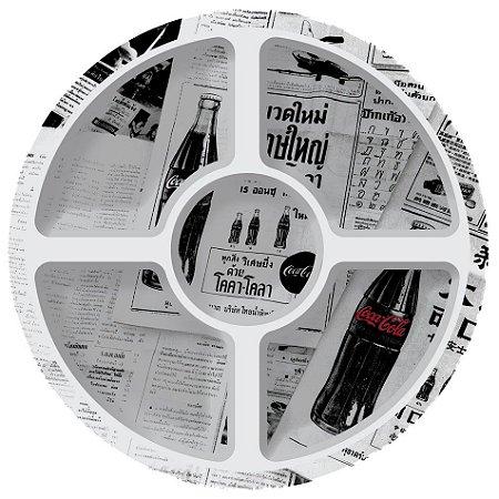 Petisqueira redonda Coca-Cola Newspaper