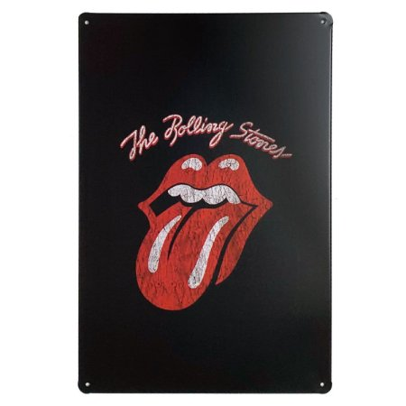 Placa de Metal The Rolling Stones - 30 x 20 cm