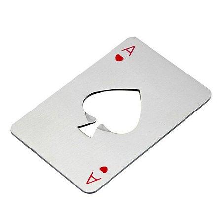 Abridor de Garrafa Poker Card Carta de Baralho Copas