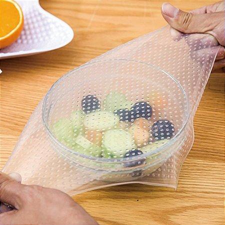 Tampa de Silicone Reutilizável para alimentos Stretch and Fresh - 4 peças