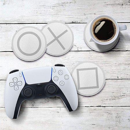 Jogo de Porta Copos Botões de Controle PS5 new 2020 - 4 peças